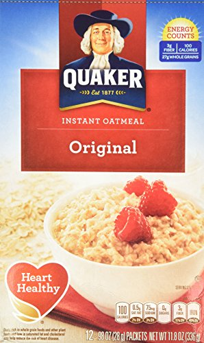 (Quaker Instant Oatmeal Original, 12-Count Boxes (Pack of 2))