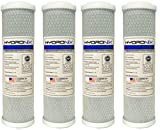 Hydronix CB-25-1005 NSF Carbon Block Filter 2.5'' OD X 9 7/8'' Length, 5 Micron (4-Pack)