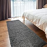 iCustomRug Cozy and Soft Solid Shag Mat 2X3 Charcoal/Dark Grey Ideal to Enhance Your Living Room and Bedroom Decor