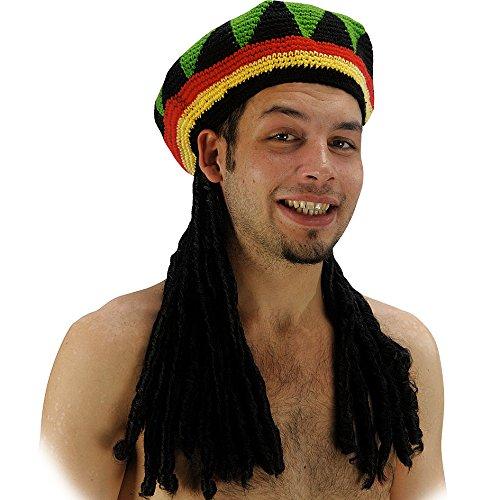 Cappello Rasta con capelli Jamaicano