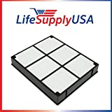3 Pack Replacement HEPA Filter to fit Hamilton Beach 04912 TrueAir Air Purifier Models 04160, 04161, 04150 By LifeSupplyUSA.