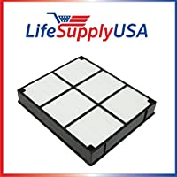 2 Pack Replacement HEPA Filter to fit Hamilton Beach 04912 TrueAir Air Purifier Models 04160, 04161, 04150 By LifeSupplyUSA.