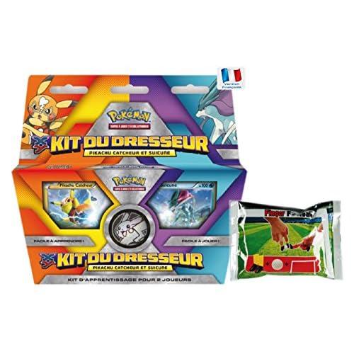 Carte Pokemon - Kit du Dresseur 2016 Pikachu Catcheur & Suicune avec 1 cadeau bonus offert