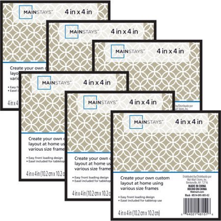 Mainstay.. 4x4 Format Frame, Set of 6 (2 Pack) by Mainstay..