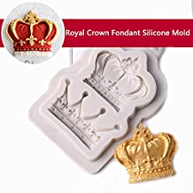 Royal Crown Fondant Candy Silicone Mold Cupcake Cake Decoration Tool Soap DIY Mold Baking