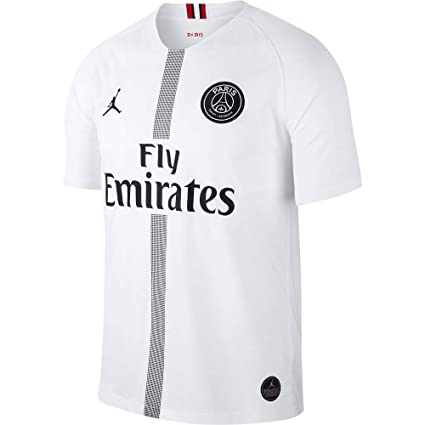 info for 22f37 bec24 NIKE Paris Saint-Germain PSG Air Jordan Men's Third Jersey 2018-2019 White