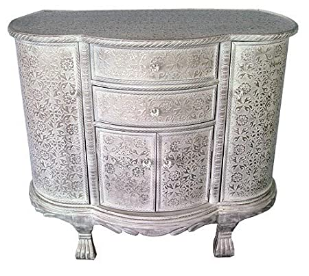 pressed metal furniture. Pressed Metal Furniture. Frosted White \\u0026 Silver Floral Print Embossed Sideboard Chest Furniture A