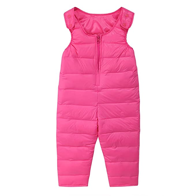 9fc78b9638a2 Amazon.com  Soly Tech Kids Girls Boys Winter Warm Overalls Jumpsuit ...