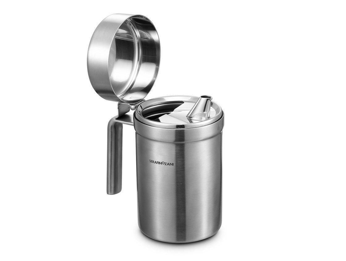 SERAFINO ZANI Rhine Series 18/10 Stainless Steel Olive Oil Can Dispenser