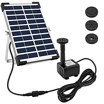 Ankway Solar Fountain Pump for Bird Bath Solar Fountain Water Pumps Panel Kit Outdoor Watering Submersible Pump for Garden Patio and Water Feature