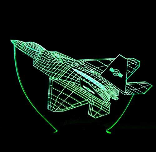 7 Farbwechsel Flugzeug Flugzeug Tischlampe Modellierung 3D Visuelle LED Wohnkultur Schlafzimmer Kinder Schlaf Nachtlicht Flugzeug Leuchte