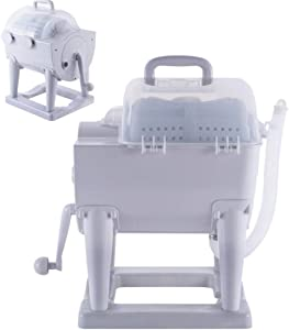 Portable Hand-Operated Manual Washing Machine Hand Cranking Mini Washer Rotary Dryer Non-Electric for Camping Dorms Apartments College Rooms