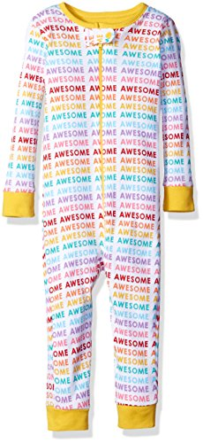 The Children's Place Baby Girls Long Sleeve One-Piece Pajamas 2, Awesome White 77286 6-9 Months