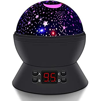 Amazon Com Star Sky Moon Projector Multicolor Led Bulbs