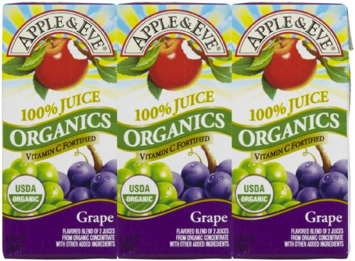 Apple & Eve Organics Juice - Aseptic Grape - 200 ml - 3 ct