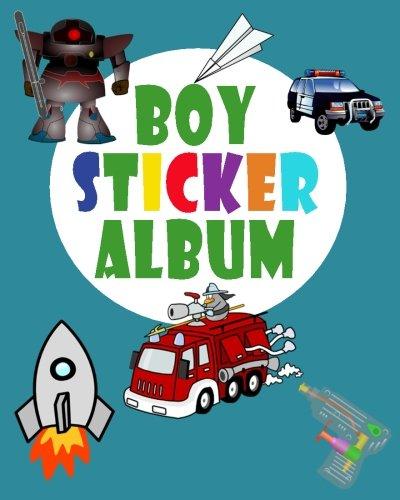 Boy Sticker Album: Blank Permanent Sticker Book