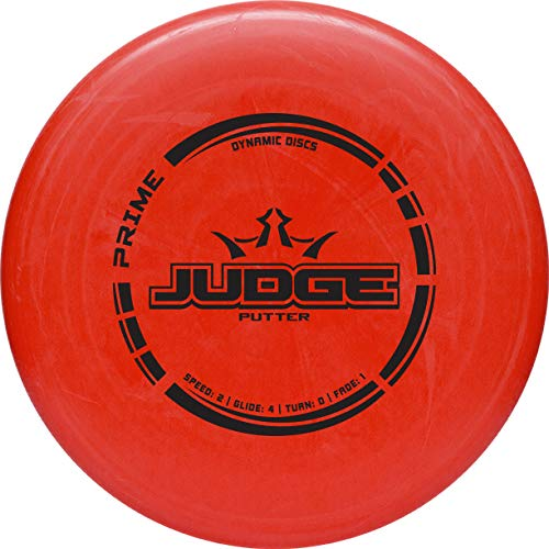 - Dynamic Discs Prime Judge Disc Golf Putter | Red | 170g Plus | Throwing Disc Golf Putter | Great Off of The Tee Box | Stable Disc Golf Flight | Beaded Disc Golf Putter | Stamp Color Will Vary