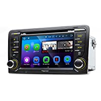Eonon GA8157 Car Audio Stereo Radio for Audi A3/S3 Android 7.1 Nougat 2GB RAM Quad-Core Car GPS NavigationSystem 7 Inch Touch Screen Bluetooth Receiver With HDMI Output and Split Screen