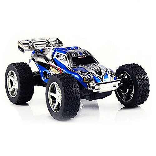 Rc Car,DeXop-Babrit High Speed 1:32 Scale Mini Rc Car 2WD 49 MHZ Radio Remote Control Truck Electric Offroad Racing Crawel with 5 Speed transmission-Blue(Small Size)