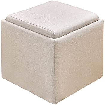 Amazon Com Giantex Linen Storage Ottoman Box Square Foot