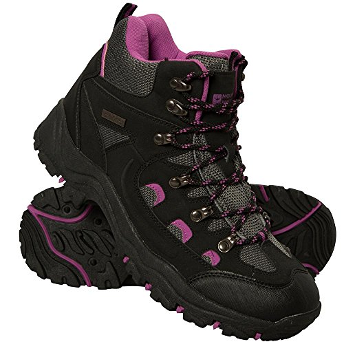 Mountain Warehouse Adventurer Womens Boots - Ladies Summer Shoes Black 6 M US Women (Ski Mountain Boots)