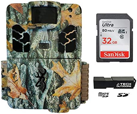 Browning Dark OPS HD APEX 2019 Trail Game Camera Bundle Includes 32GB Memory Card and J-TECH Card Reader 18MP BTC6HDAPX