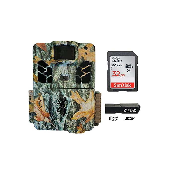 Browning Dark OPS HD APEX (2019) Trail Game Camera Bundle Includes 32GB Memory Card and J-TECH Card Reader (18MP)   BTC6HDAPX
