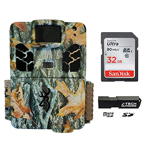Browning Dark OPS HD APEX (2019) Trail Game Camera Bundle Includes 32GB Memory Card and J-TECH Card Reader (18MP) | BTC6HDAPX (Best Cheap Camera 2019)