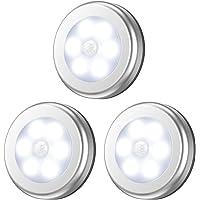 Motion Sensor Lights, Battery-Powered LED Night Light Safety Lamp Step Lights Under Cabinet Lights for Stair, Bathroom…