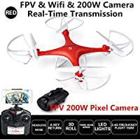 Remote Control Drone Wifi & FPV Real Time 200W HD Camera Kids RC Toys Quadcopter