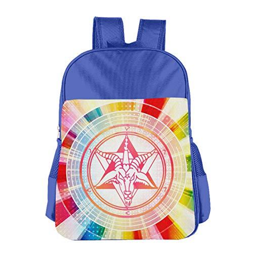- Baphomet Goats Egyptian Kids Boys Girls Backpack School Bookbags