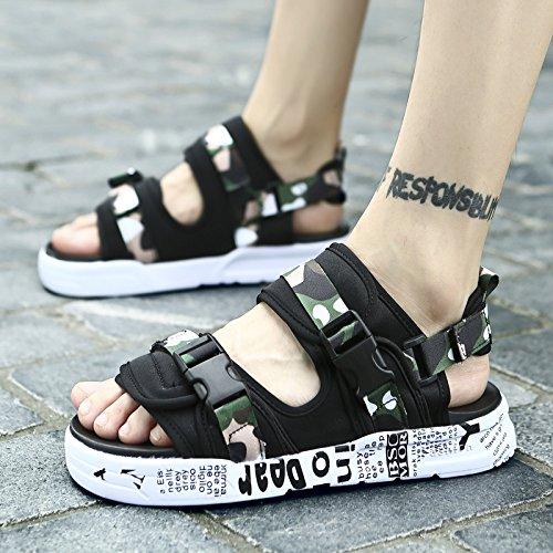 huge discount 6b84c e62b7 Lin Hombre Zapatos Playa Niño Nuevo De Gruesa Elegante A Suela Verano Las  Zapatillas Abiertas Sandalias ...