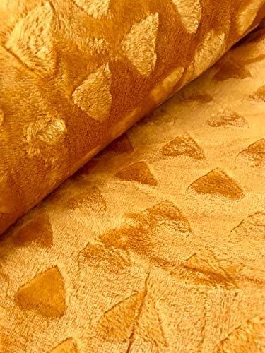 130 x 180 cm Polyester Jaune Moutarde Linder Plaid Tout Doux