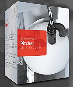 Pitcher Stainless Steel Milk Frothing 12 Oz (350 ml) by Utopia Kitchen