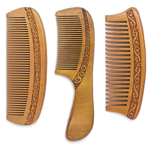 Detangling Wooden Anti Static Mustache Natural product image