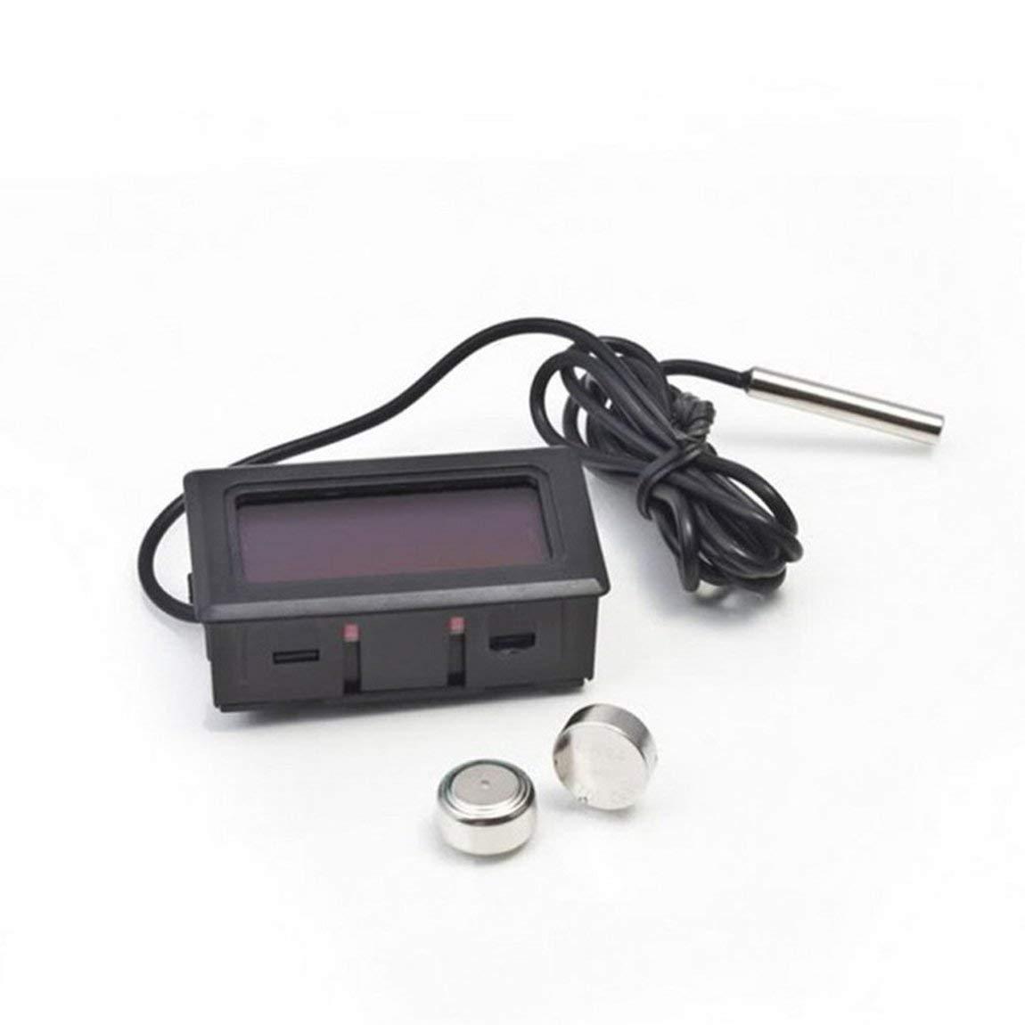 Colore: Nero 73JohnPol Termometro Digitale elettronico Portatile Portatile con Schermo LCD per Frigorifero//congelatore//Acquario//Temperatura Serbatoio di Pesce