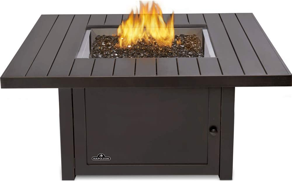 Amazon Com Napoleon Sttr2 Bz St Tropez Square Patioflame Patio Fire Table Bronze Garden Outdoor