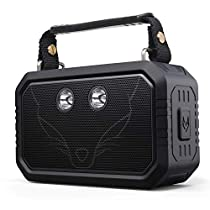 DOSS Traveler IP66 Rugged Waterproof Portable Wireless Bluetooth Outdoor Speakers with 20W HD Sound,Bold Bass,3W Flashlight,12H Playtime,Handsfree foriPhone,Samsung
