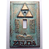 Sci-Collectables Legend of Zelda Custom Embossed Design Light Switch Cover, Copper / Patina