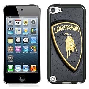 NEW Unique Custom Designed iPod Touch 5 Phone Case With Lamborghini Logo Close-up_Black Phone Case