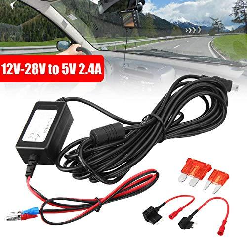 Audew Car Dash Cam Hard Wire Kit MINI USB For Nextbase Dash Cam Camcorder DVR with ACU/ACS wires + Medium Small Fuse Holder