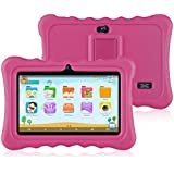 Ainol Q88 Kids Android 7.1 OS Tablet 7 Display 1G RAM 8 GB ROM Light Weight Portable Kid-Proof Shock-Proof Silicone Case Kickstand Available iWawa Kids Education Entertainment (Pink)