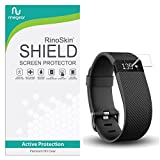 [10-PACK] RinoGear for Fitbit Charge / Charge HR Screen Protector [Active Protection] Flexible HD Invisible Clear Shield Anti-Bubble