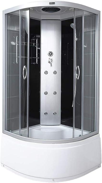 Home Deluxe | Cabina de ducha | Elegance Pure | Incluye los accesorios completos: Amazon.es: Hogar