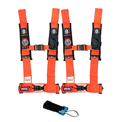 (Pro Armor A114230OR P151100 Orange 4-Point Harness 3