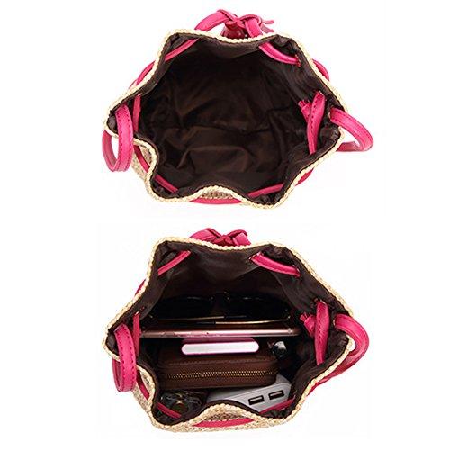 Spalla Rosa M Yood026 Borsa A pink Yoome Beige Donna wAfqSA