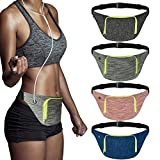 SIUONI Extra Wide Running Belt, Adjustable Travel Money Belt Fit All Smartphones and Passport, Stylish Fitness Workout Belt Waist Pack for Men Women Runners