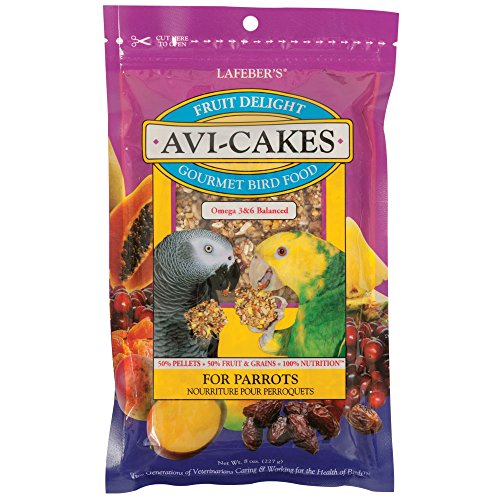 Lafeber's Fruit Delight Avi-Cakes for Parrots, (Parrot Cakes)