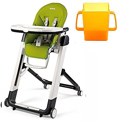 Peg Perego Siesta Highchair, Mela with Juice Holder Bundle