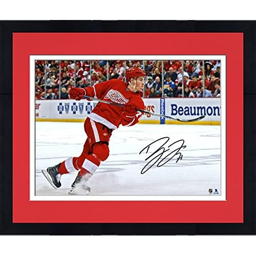 low-cost Framed Dylan Larkin Detroit Red Wings Autographed 8